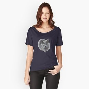 Tops - Russian Blue Cat T-Shirt and other items!